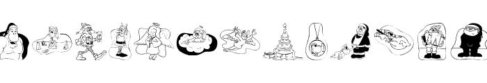 Weihnacht2006 Font LOWERCASE