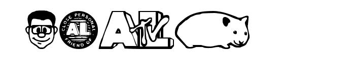 Weird Al Yankobats Font OTHER CHARS