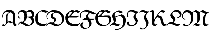Weiss-Fraktur Font UPPERCASE