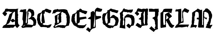 Weiss-Gotisch-Random Font UPPERCASE