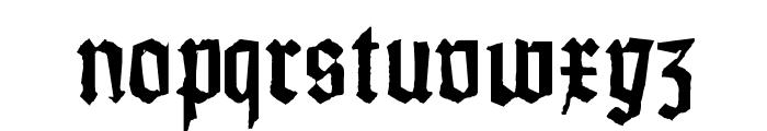 Weiss-Gotisch-Random Font LOWERCASE
