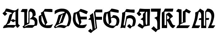 Weiss-Gotisch Font UPPERCASE