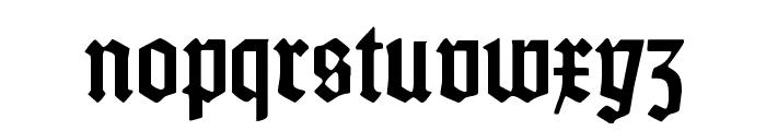 Weiss-Gotisch Font LOWERCASE