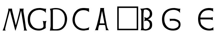 Weiss Regular Font OTHER CHARS