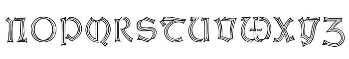 WeissGotnitials Font UPPERCASE