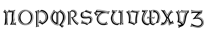 WeissGotnitials Font LOWERCASE