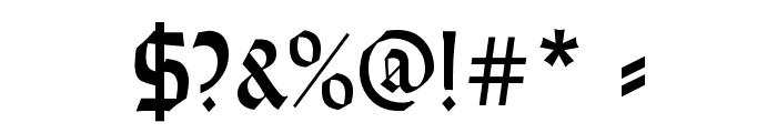 WeissRundgotisch Font OTHER CHARS