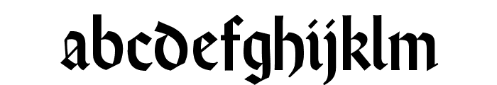 WeissRundgotisch Font LOWERCASE
