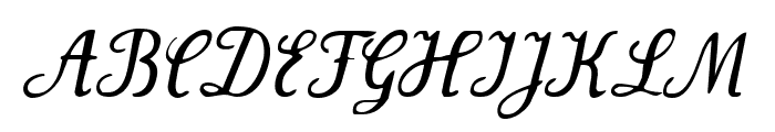 Wenceslas-Oblique Font UPPERCASE