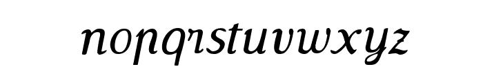 Wenceslas-Oblique Font LOWERCASE