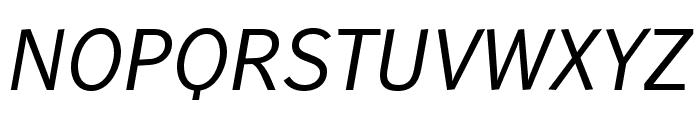 WendelinReduced-Kursiv Font UPPERCASE