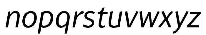 WendelinReduced-Kursiv Font LOWERCASE