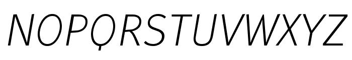 WendelinReduced-LeichtKursiv Font UPPERCASE