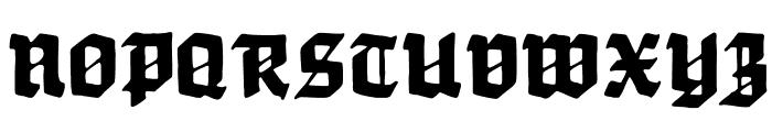 Werbedeutsch-Heavy Font UPPERCASE