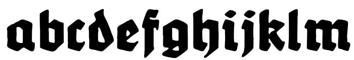 Werbedeutsch-Heavy Font LOWERCASE
