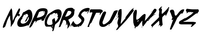 Were-Beast Italic Font UPPERCASE