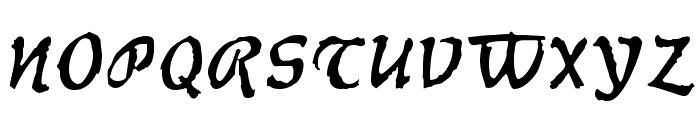 Werewolf Font UPPERCASE