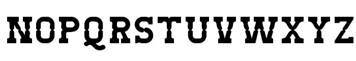West Test Font UPPERCASE