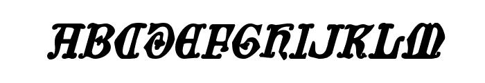 Westdelphia Bold Italic Font UPPERCASE