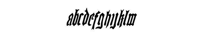 Westdelphia Condensed Italic Font LOWERCASE