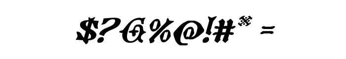 Westdelphia Expanded Italic Font OTHER CHARS