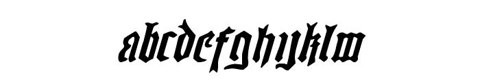 Westdelphia Expanded Italic Font LOWERCASE