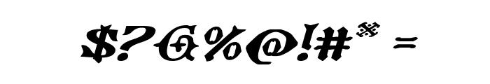 Westdelphia Extra-Expanded Italic Font OTHER CHARS