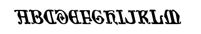 Westdelphia Leftalic Font UPPERCASE
