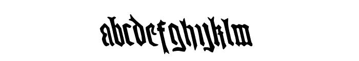 Westdelphia Leftalic Font LOWERCASE