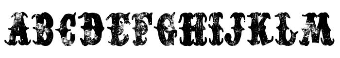 Western Dead Font UPPERCASE