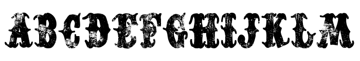 Western Dead Font LOWERCASE