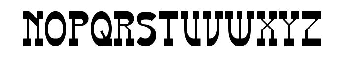 Western Eastern Font UPPERCASE