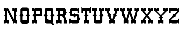 Western Normal Font UPPERCASE