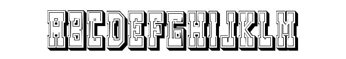 Westerngames Outline Regular Font LOWERCASE