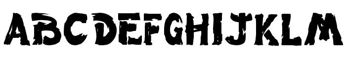 Wet Paint Font UPPERCASE