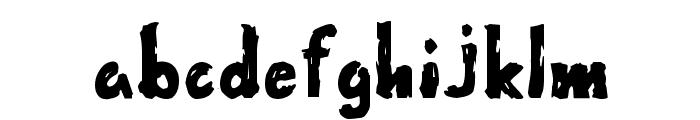 Wet Paint Font LOWERCASE