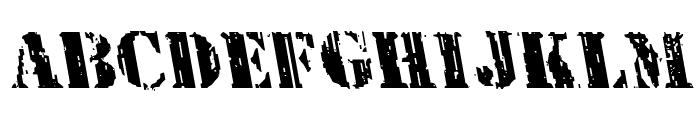 Wetworks Leftalic Font UPPERCASE
