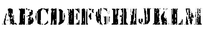 Wetworks Staggered Regular Font UPPERCASE