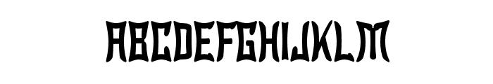 Wewak Narrow Font UPPERCASE