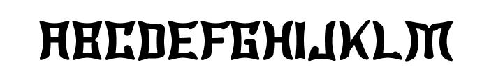 Wewak Font UPPERCASE