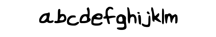 wei Font LOWERCASE