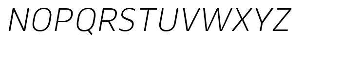 Webnar Light Italic Font UPPERCASE