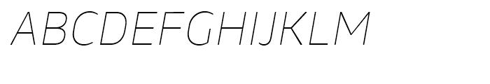 Webnar Thin Italic Font UPPERCASE