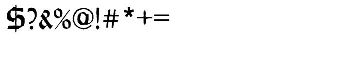 Wei Rundgotisch Antique Standard d Font OTHER CHARS