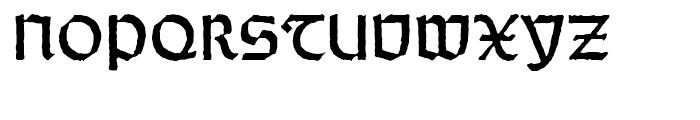 Wei Rundgotisch Antique Standard d Font UPPERCASE