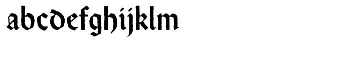 Wei Rundgotisch Antique Standard d Font LOWERCASE