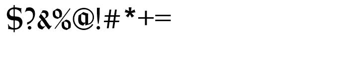Wei Rundgotisch Standard D Font OTHER CHARS
