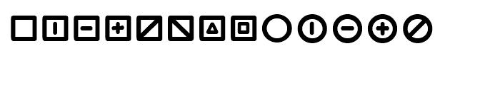 Wevli Dingbats Font UPPERCASE