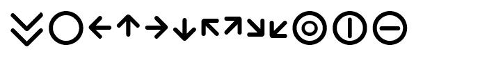 Wevli Dingbats Font LOWERCASE