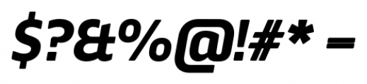 Webnar Bold Italic Font OTHER CHARS